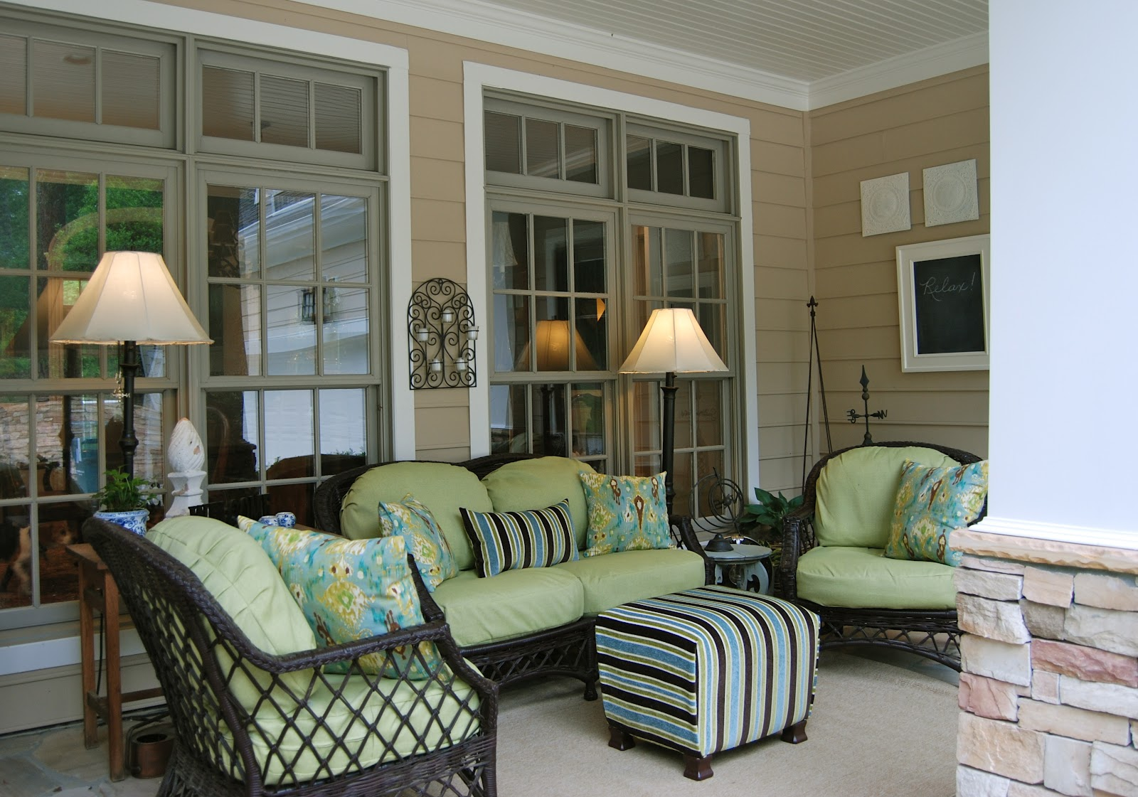 wicker furniture decorating ideas. Wicker Furniture For A Front Porch Decorating Ideas H
